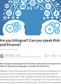 Are You Bilingual? Can You Speak Risk and Finance?